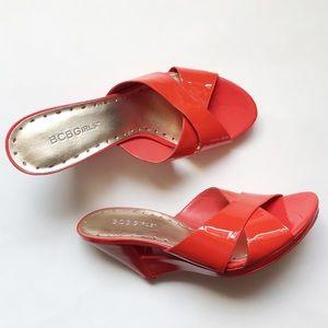 NWOT BCBGirls Platform Wedged Sandals